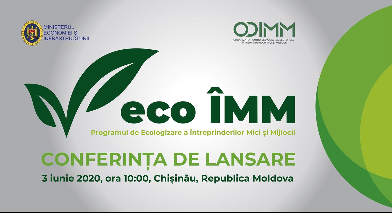 Conferința ONLINE de lansare a Programului Eco ÎMM