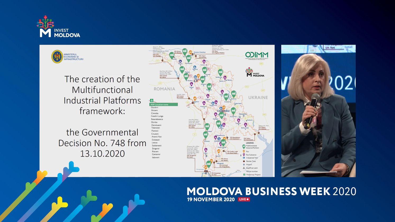 "Platformele Industriale Multifuncționale, prezentate la ""Moldova Business Week-2020"""