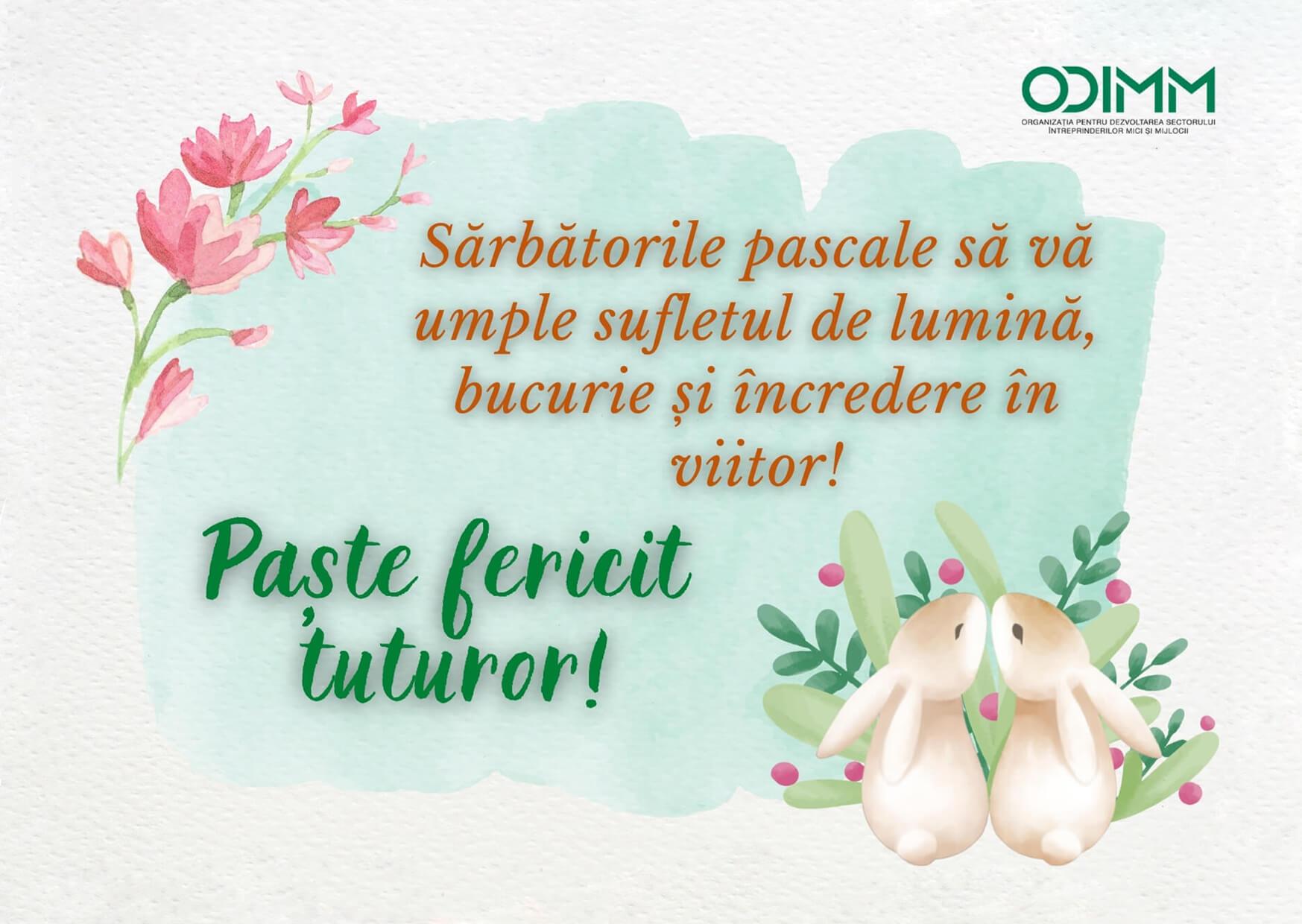 ODIMM vă urează un Paște luminat și fericit!