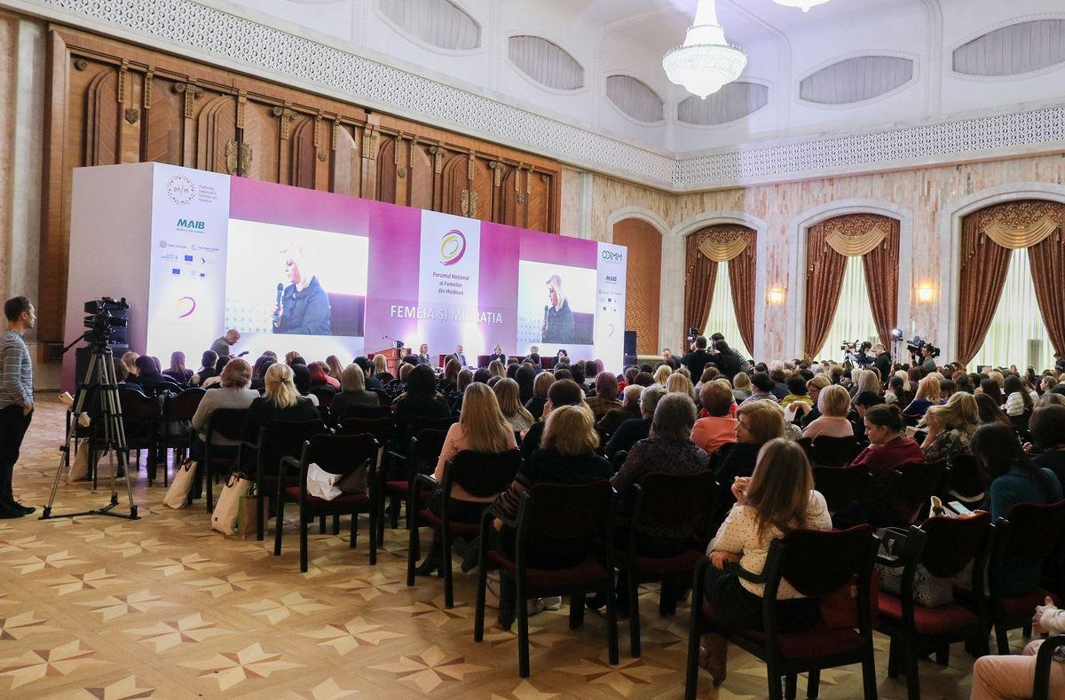 Forumul Național al Femeilor din Moldova 2018 a reunit peste 300 de femei de afaceri din țară pentru a face totalurile anului