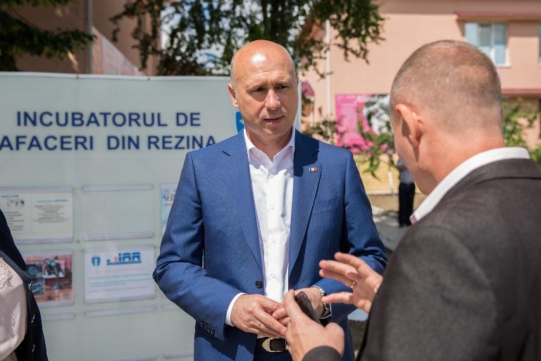 Premierul Pavel Filip a efectuat o vizită de lucru la Incubatorul de Afaceri din Rezina